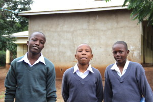 Rau Secondary School Students Swalehe, Frank and Anold