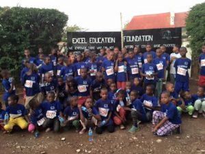 Our EEF family before taking part in the annual KiliMarathon