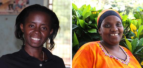 Sara Mponzi  and  Mama Fatuma